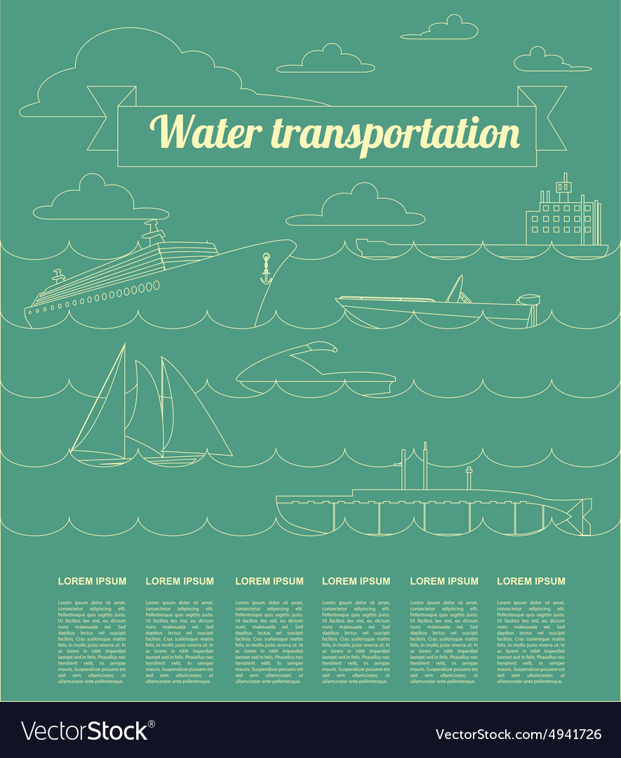Water transport infographics elements Nautical vector image