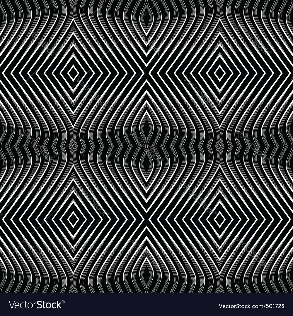 Op art pattern vector image