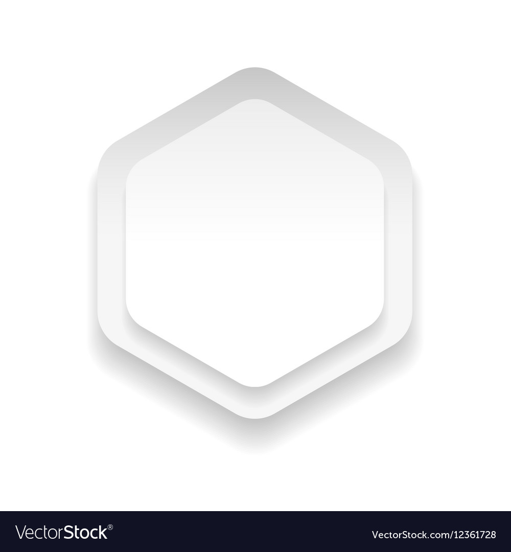 Empty hexagon sticker vector image