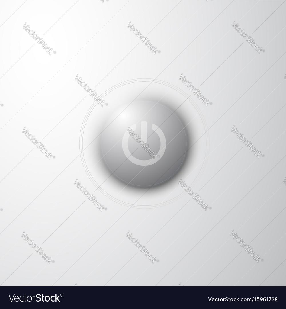 Power button concept vector image
