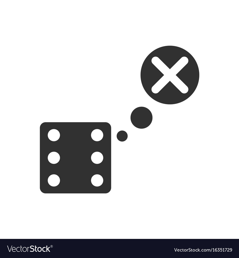 Black icon on white background dice and x mark vector image black icon on white background dice and x mark vector image buycottarizona