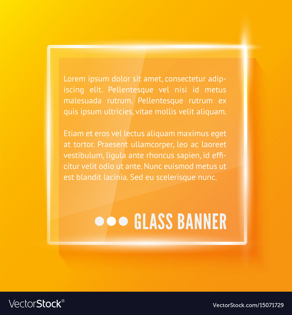 Glass plate realistic vector image