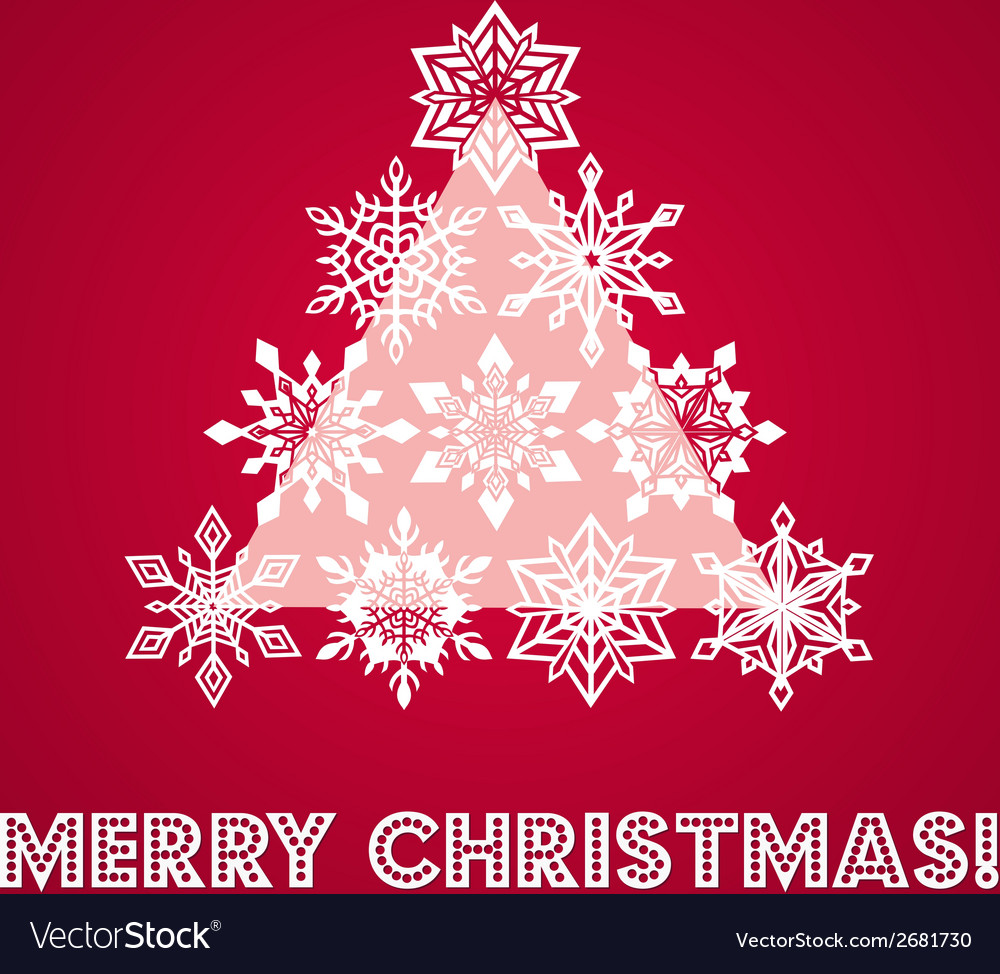 Merry christmas greeting card with words and vector image m4hsunfo