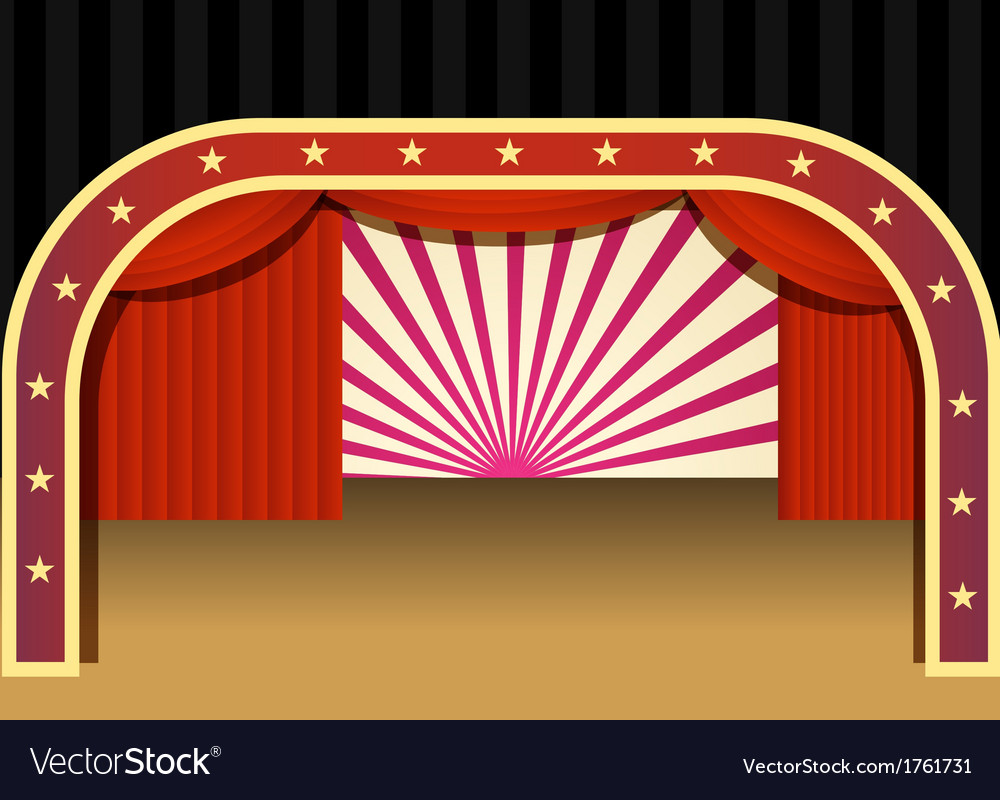 Stage vector image