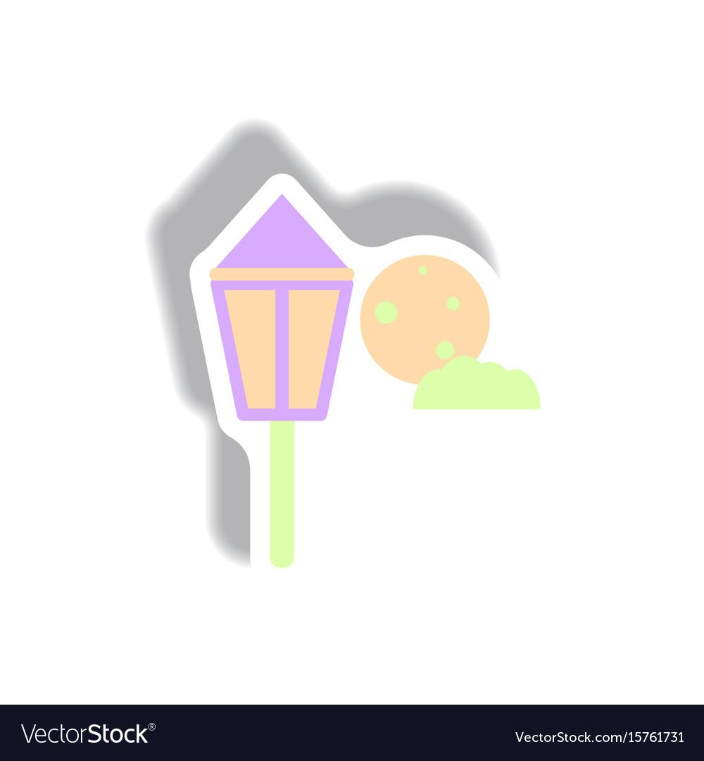 Paper sticker halloween icon