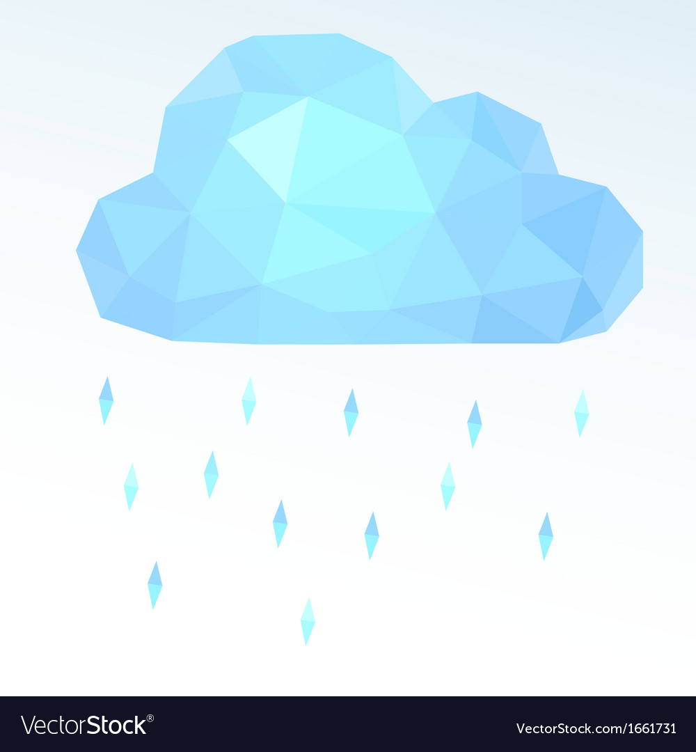 Polygonal cloud vector image