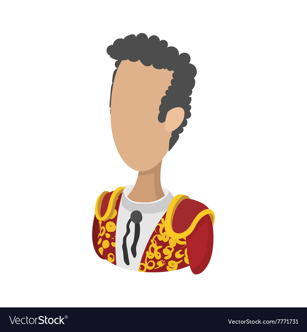 Spanish torero icon cartoon style vector image