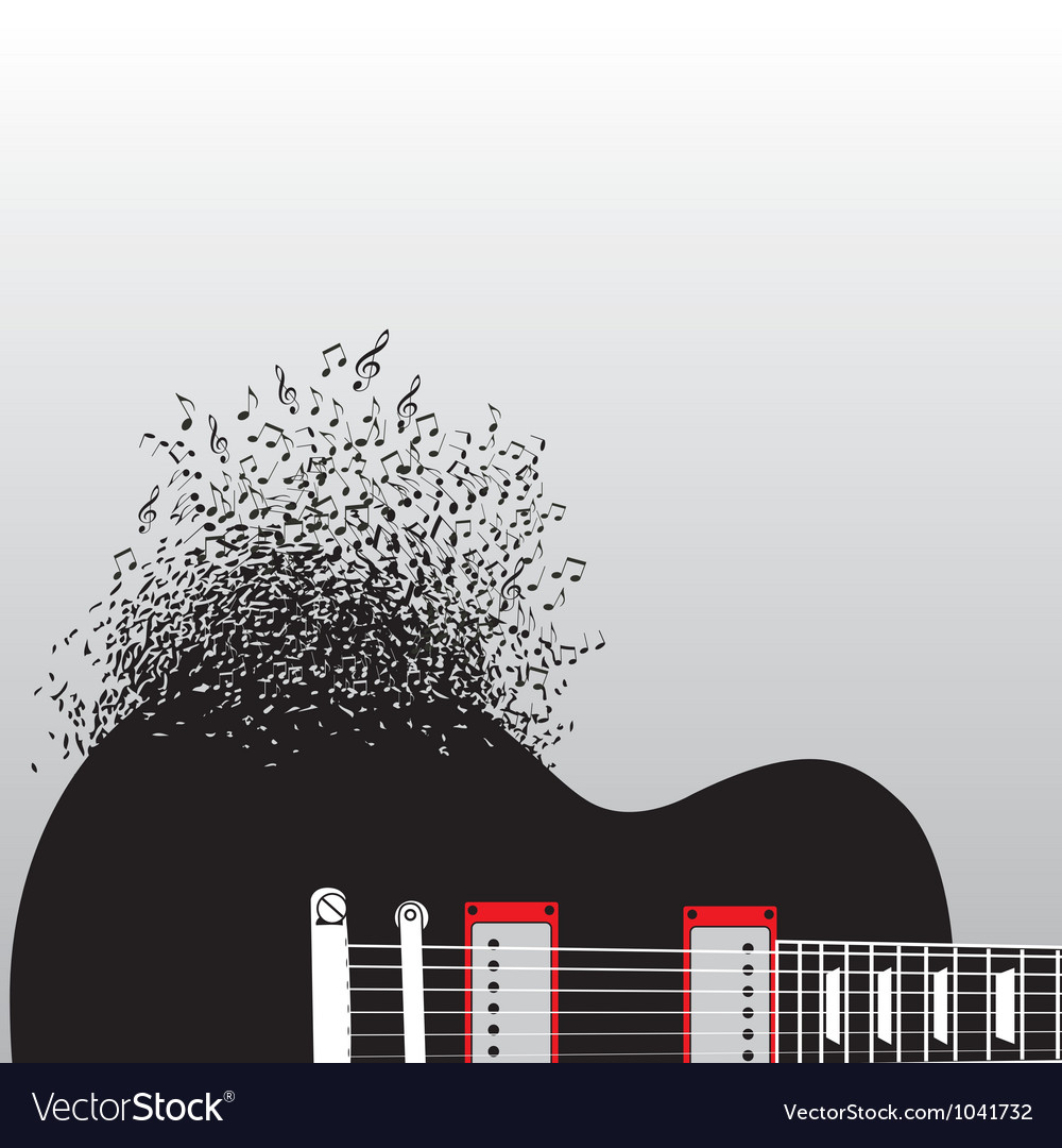 Guitar Notes Burst vector image
