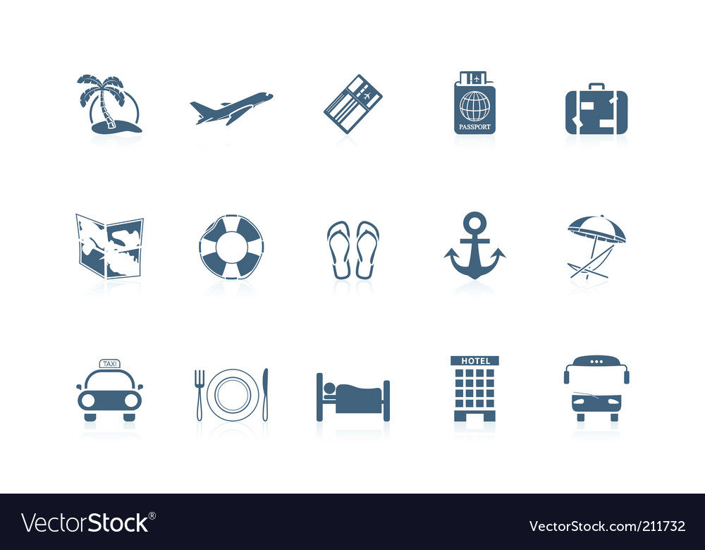 Vacation icons piccolo series vector image