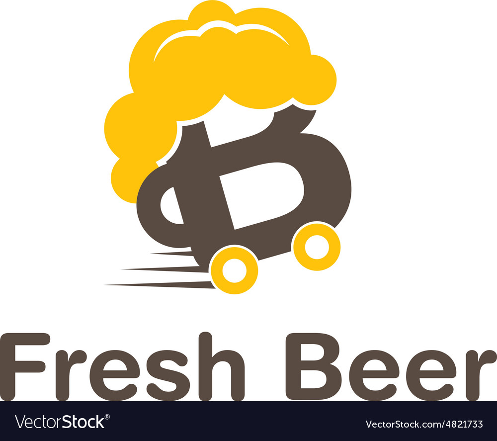 Icon delivery beer vector image