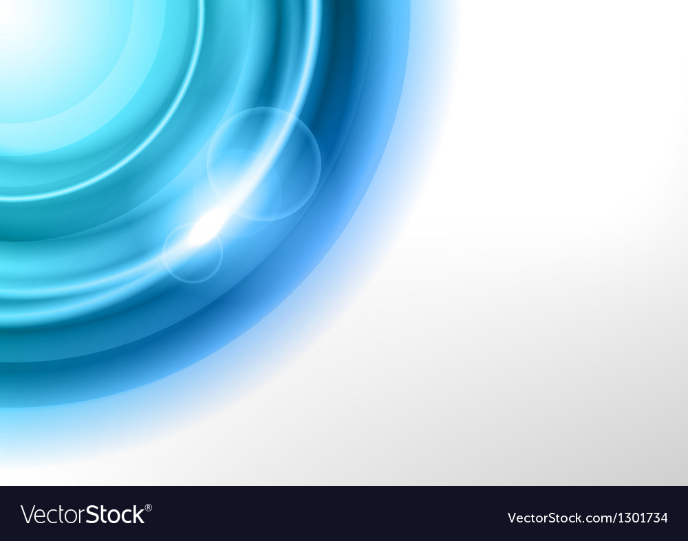 Background blue light corner round Vector Image