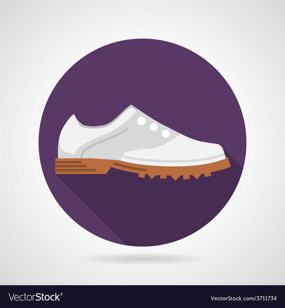 Flat icon for sports shoes vector image
