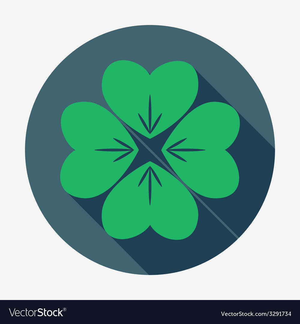 four leaf clover st patricks day symbol easy vector image