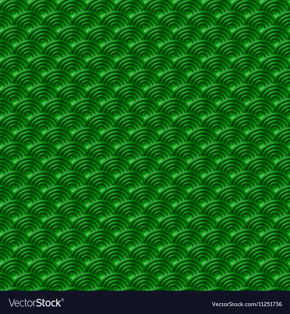 Chinese green seamless pattern dragon fish scales vector image