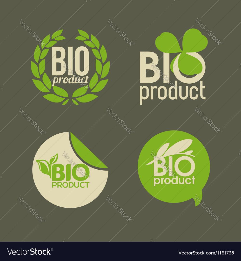 Bio product vector image