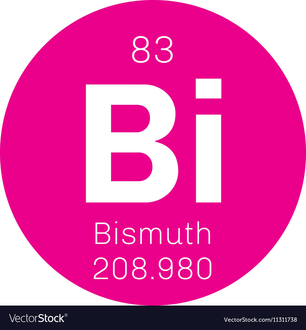 Bismuth chemical element royalty free vector image bismuth chemical element vector image buycottarizona