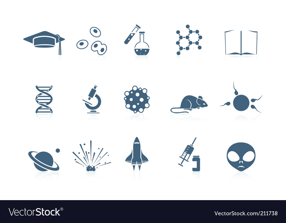 Science icons piccolo series vector image