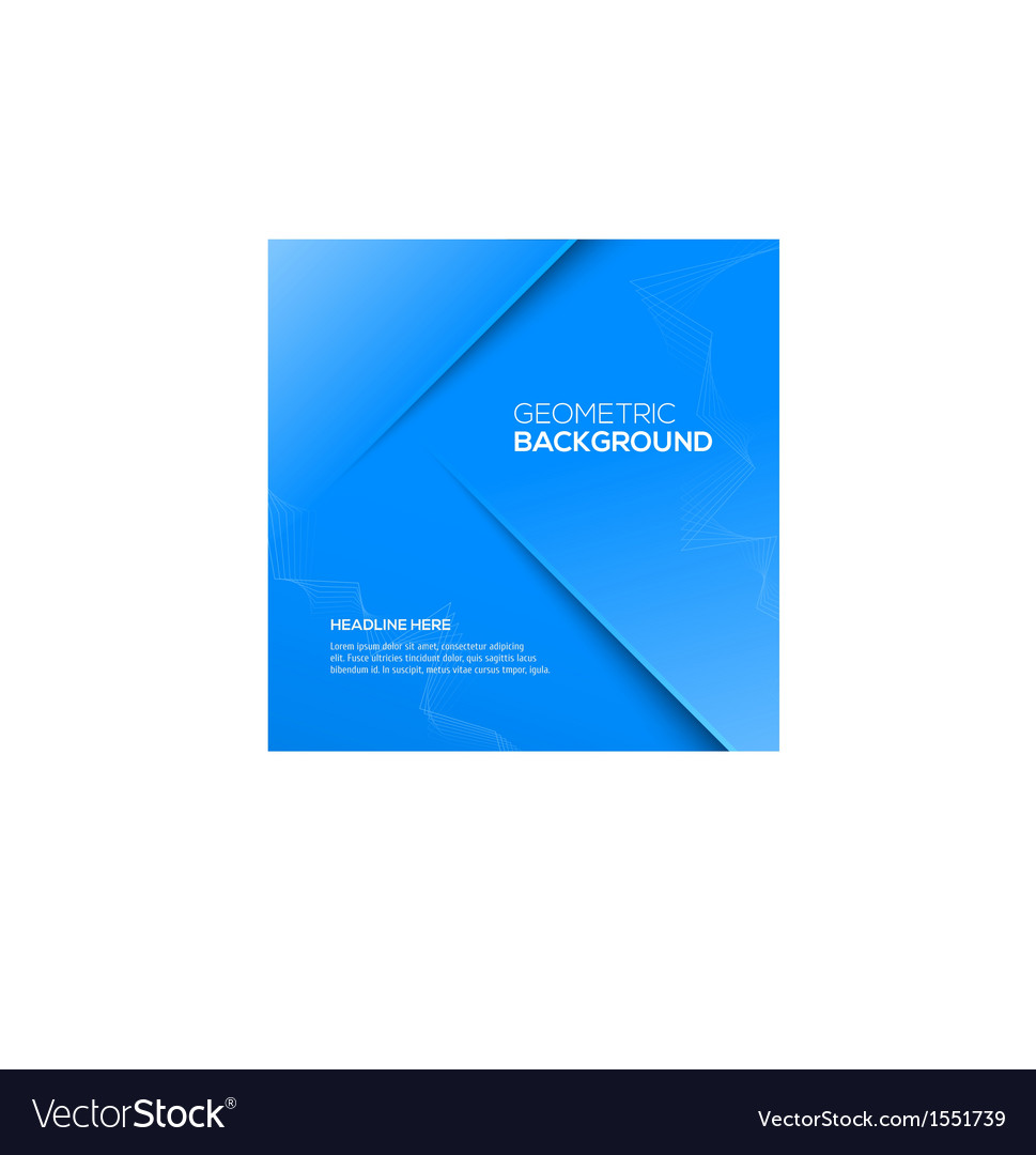 Abstract 3D background blue colour vector image