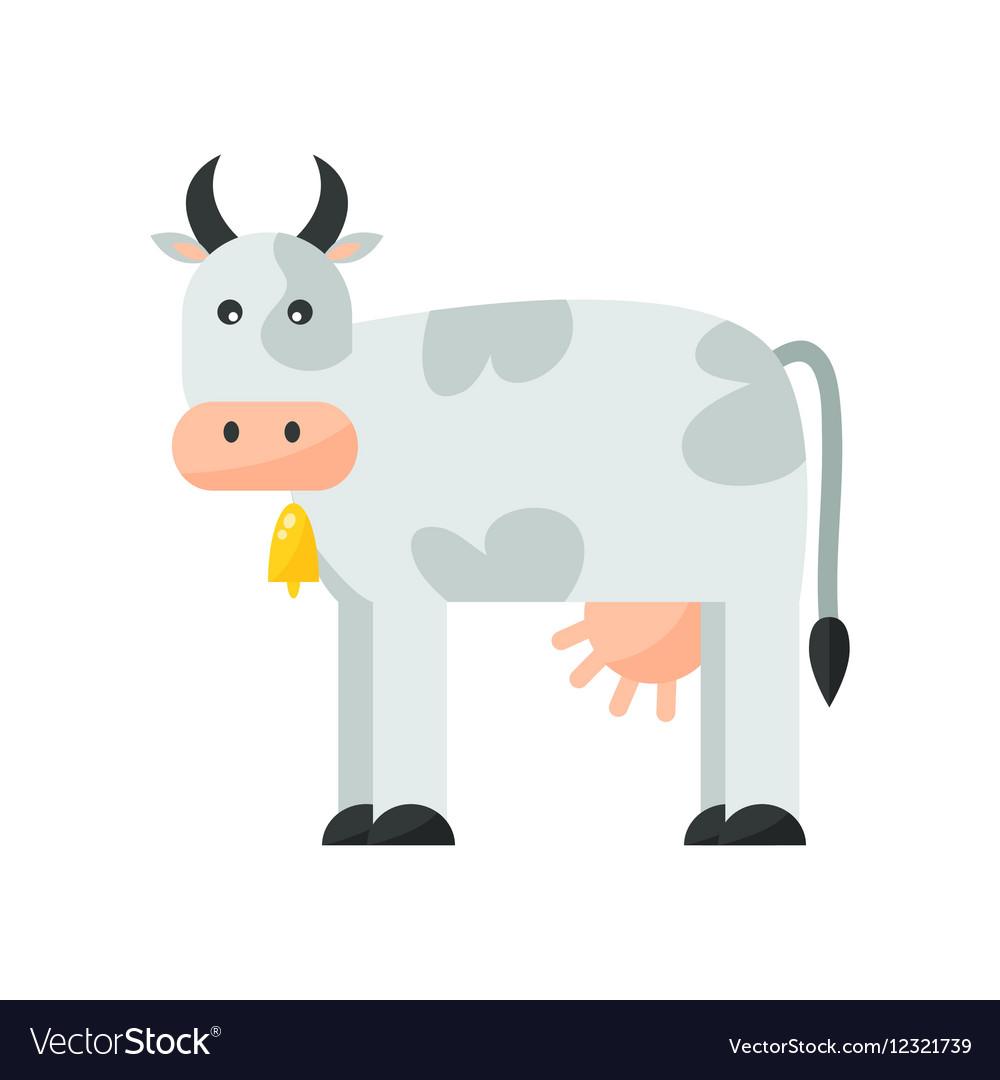Cartoon cow character vector image