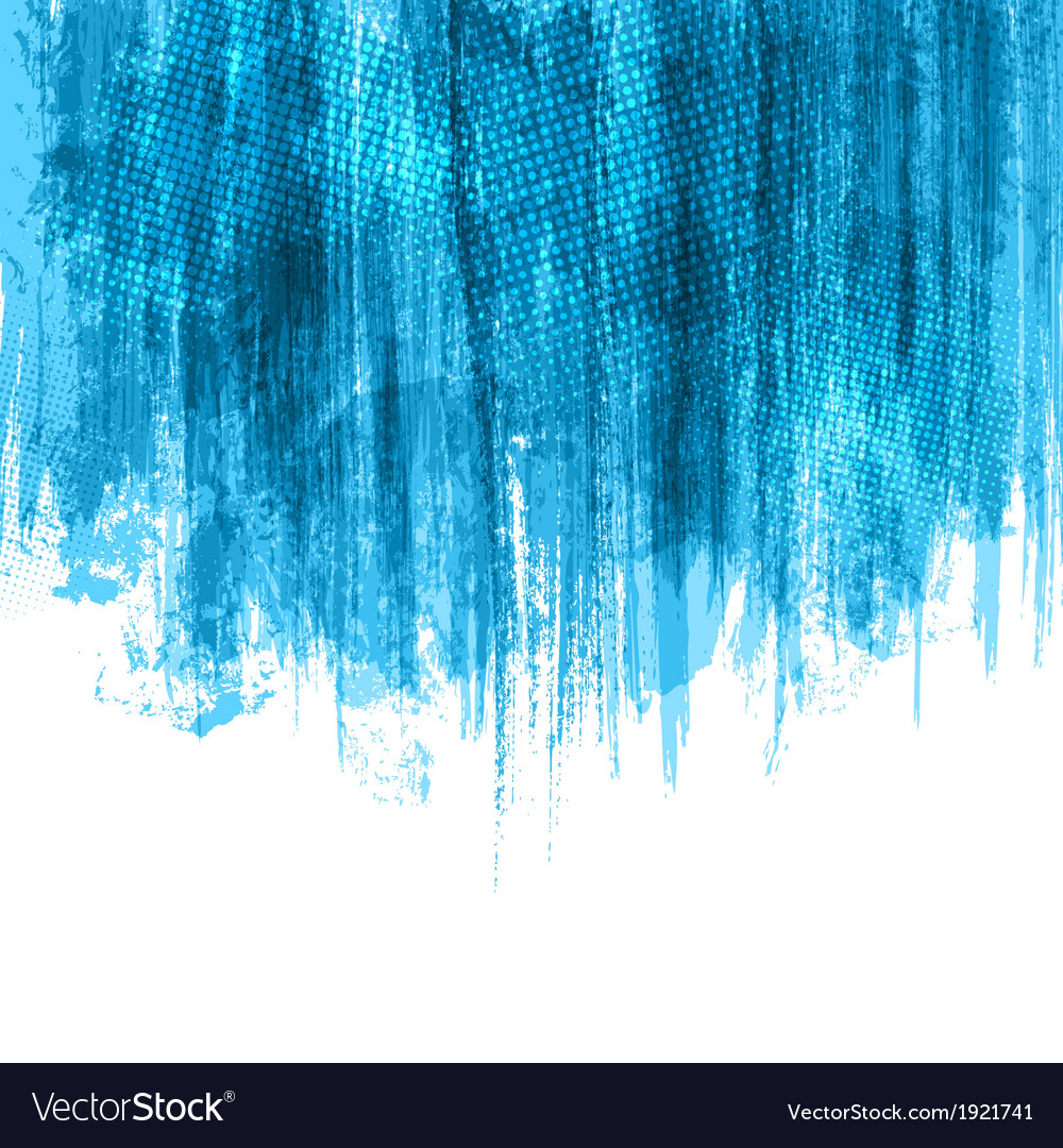 Blue Paint Splashes Background vector image