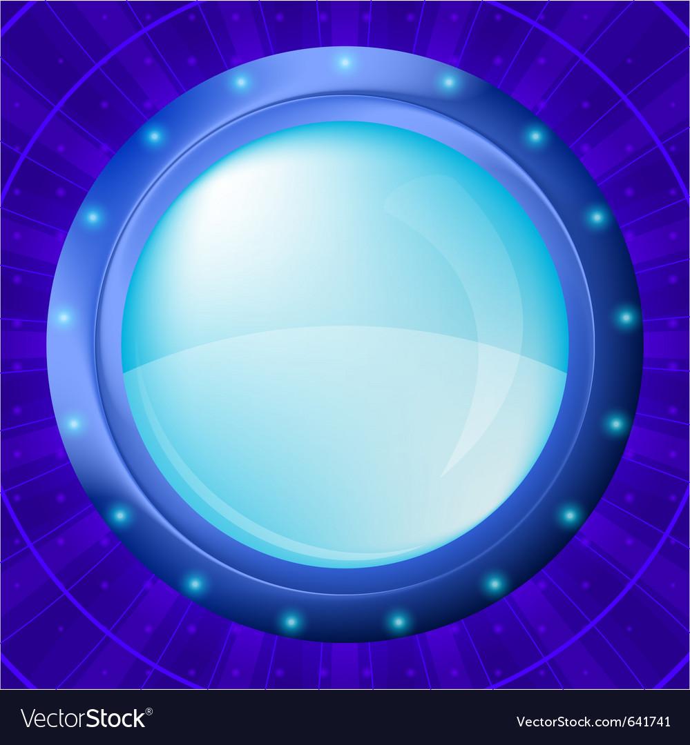 Glass porthole vector image