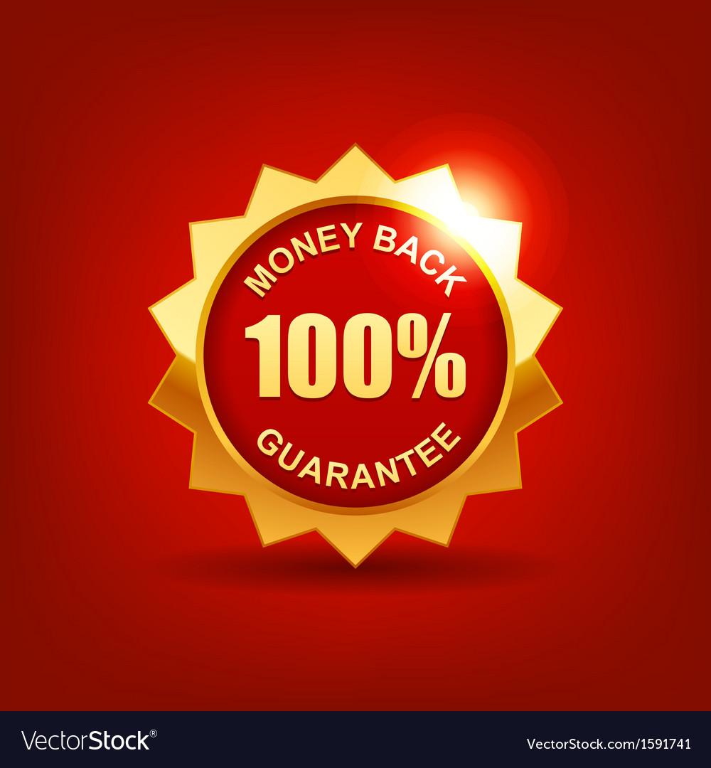 Money back guarantee vector image