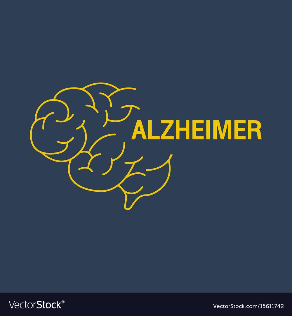Alzheimer logo icon design vector image