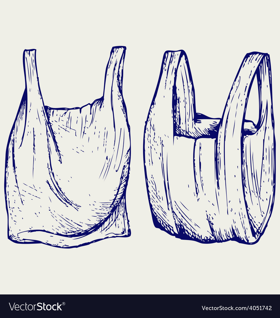 Various plastic bags vector image