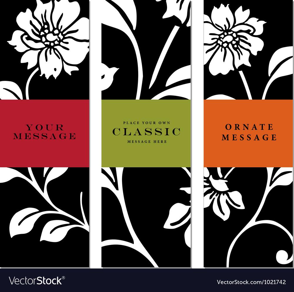 Vertical Labels vector image