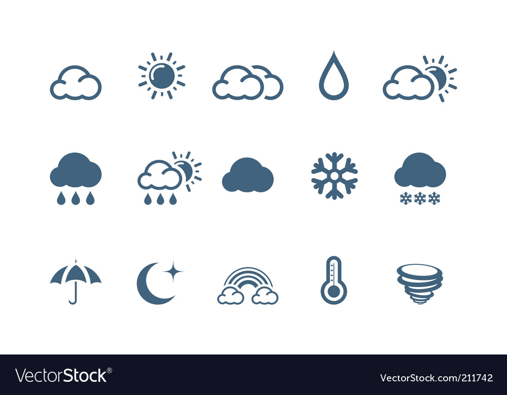 Weather icons piccolo series vector image