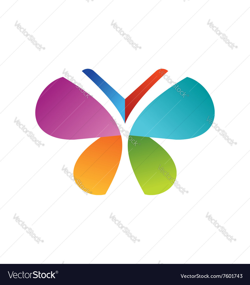 Butterfly logo beautiful health concept symbol vector image biocorpaavc Images
