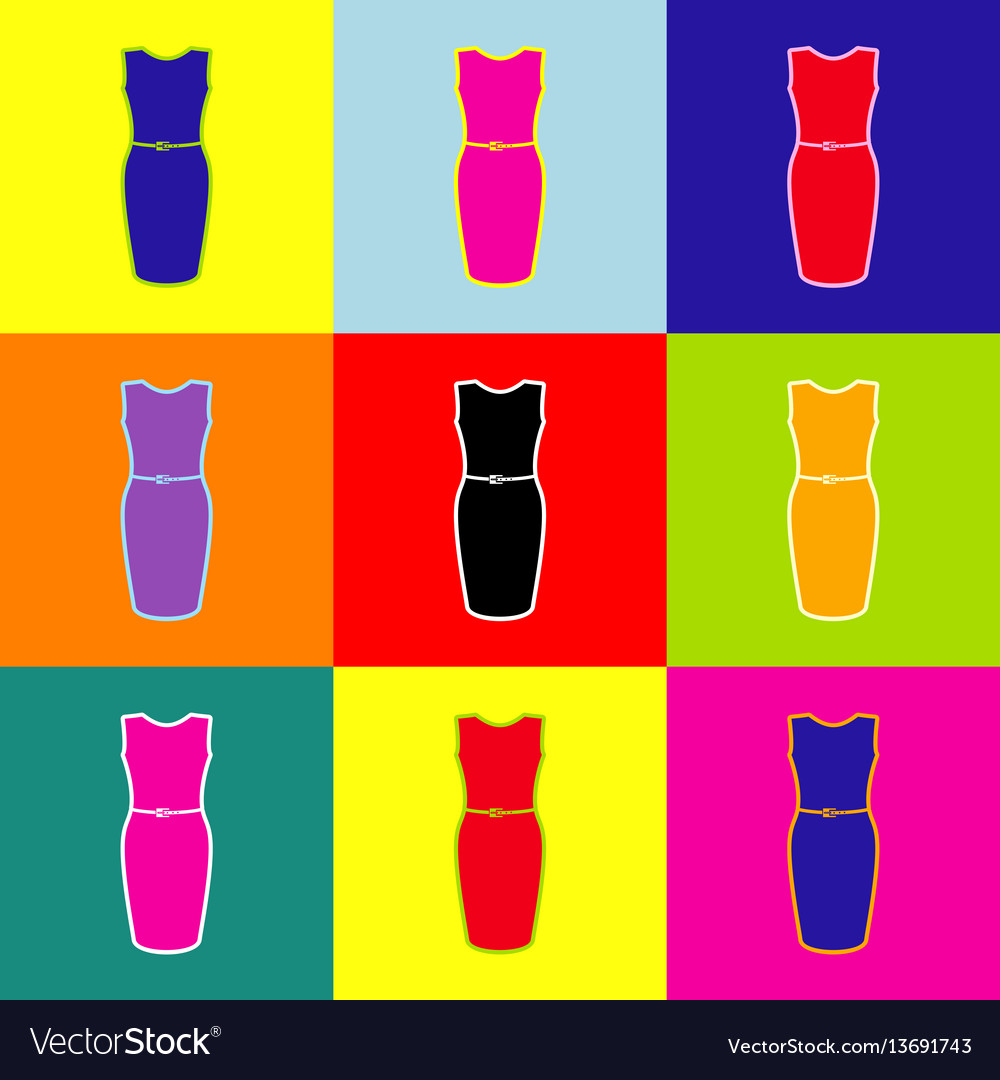 Dress sign pop-art style vector image