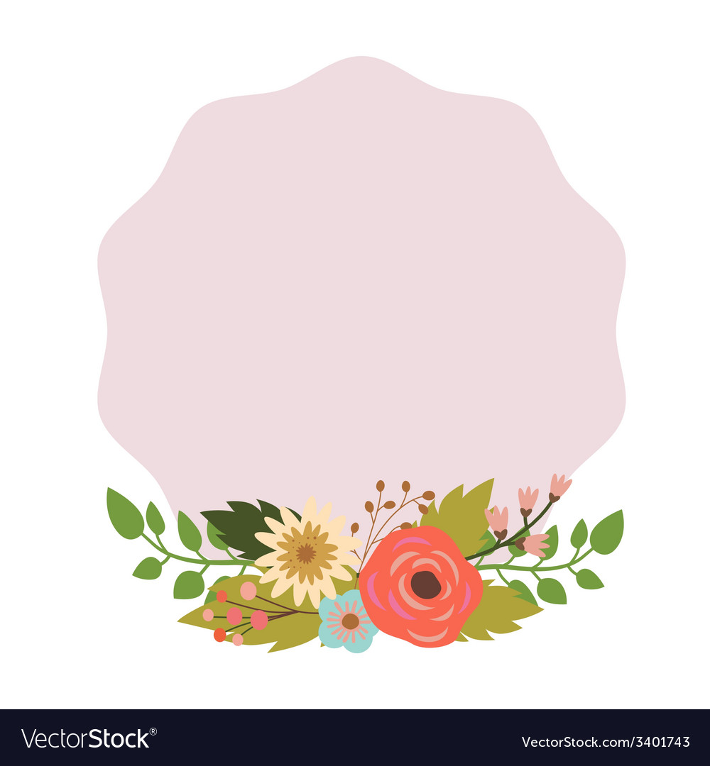 Elegant frame with bouquet vector image