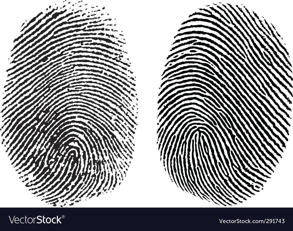 Finger prints vector image