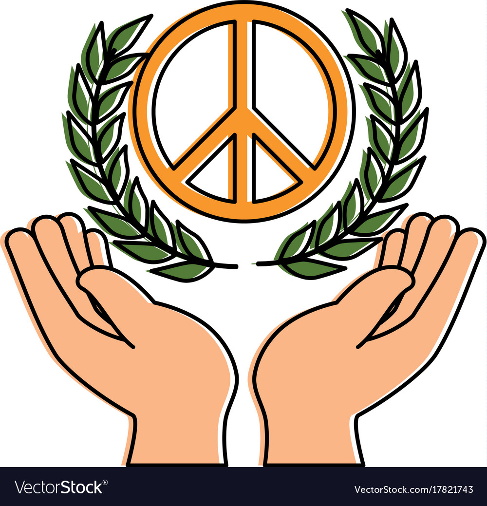 Hands human protection with peace and love symbol vector image hands human protection with peace and love symbol vector image biocorpaavc
