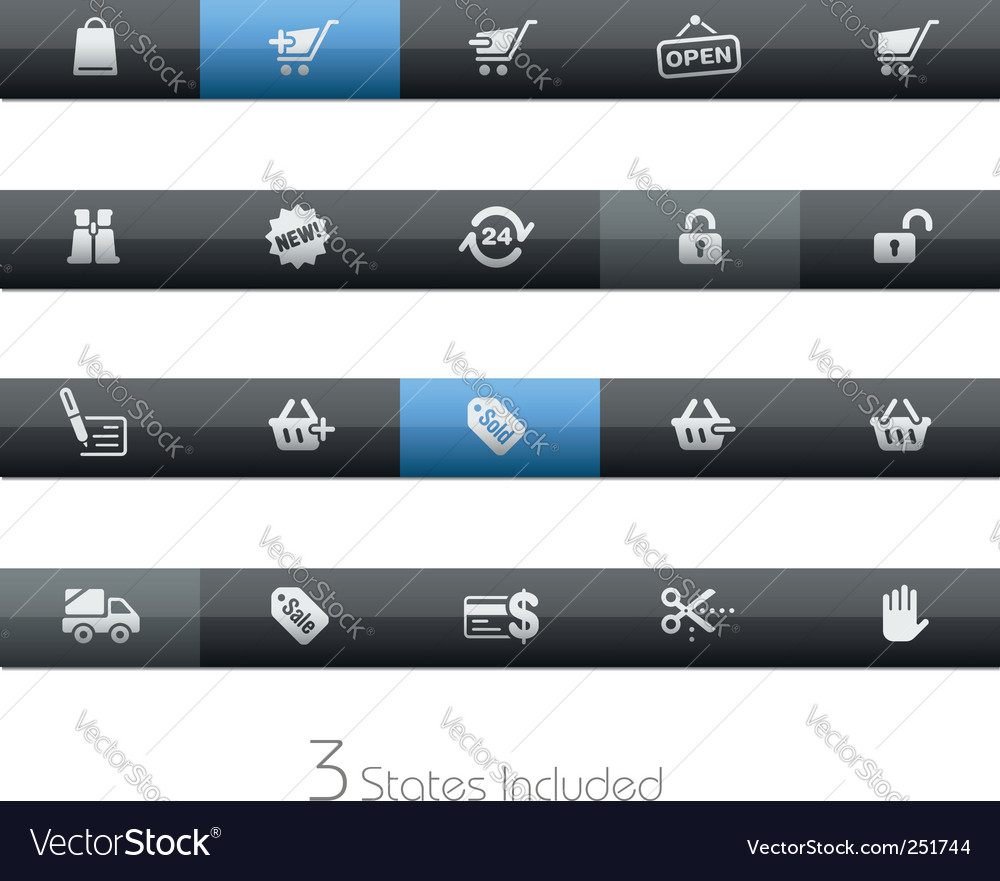 Shopping bars vector image