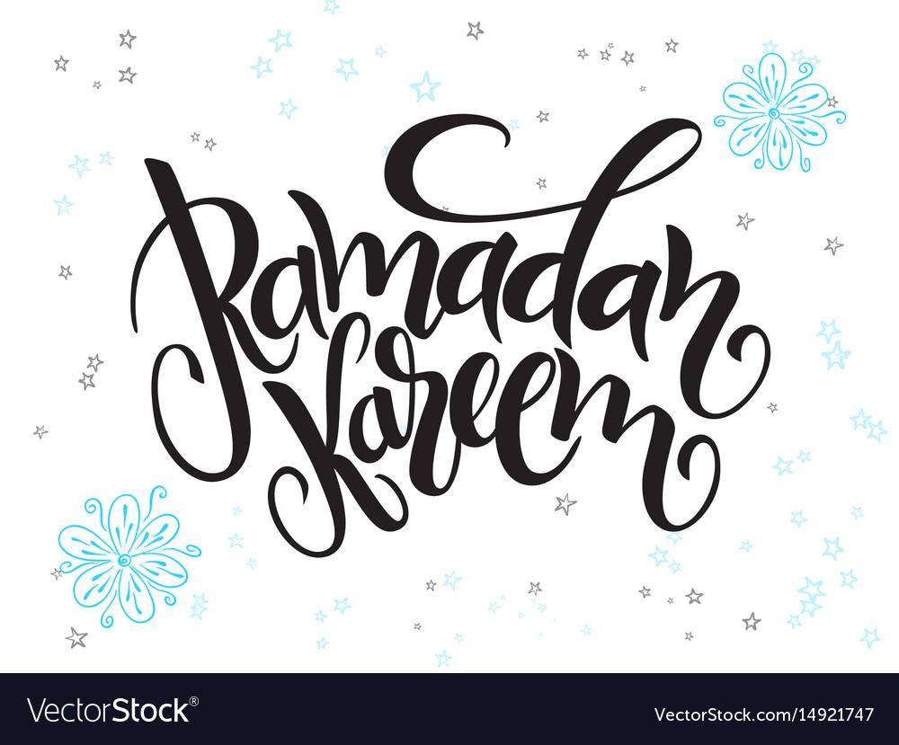 Hand lettering greetings ramadan kareem royalty free vector hand lettering greetings ramadan kareem vector image kristyandbryce Images