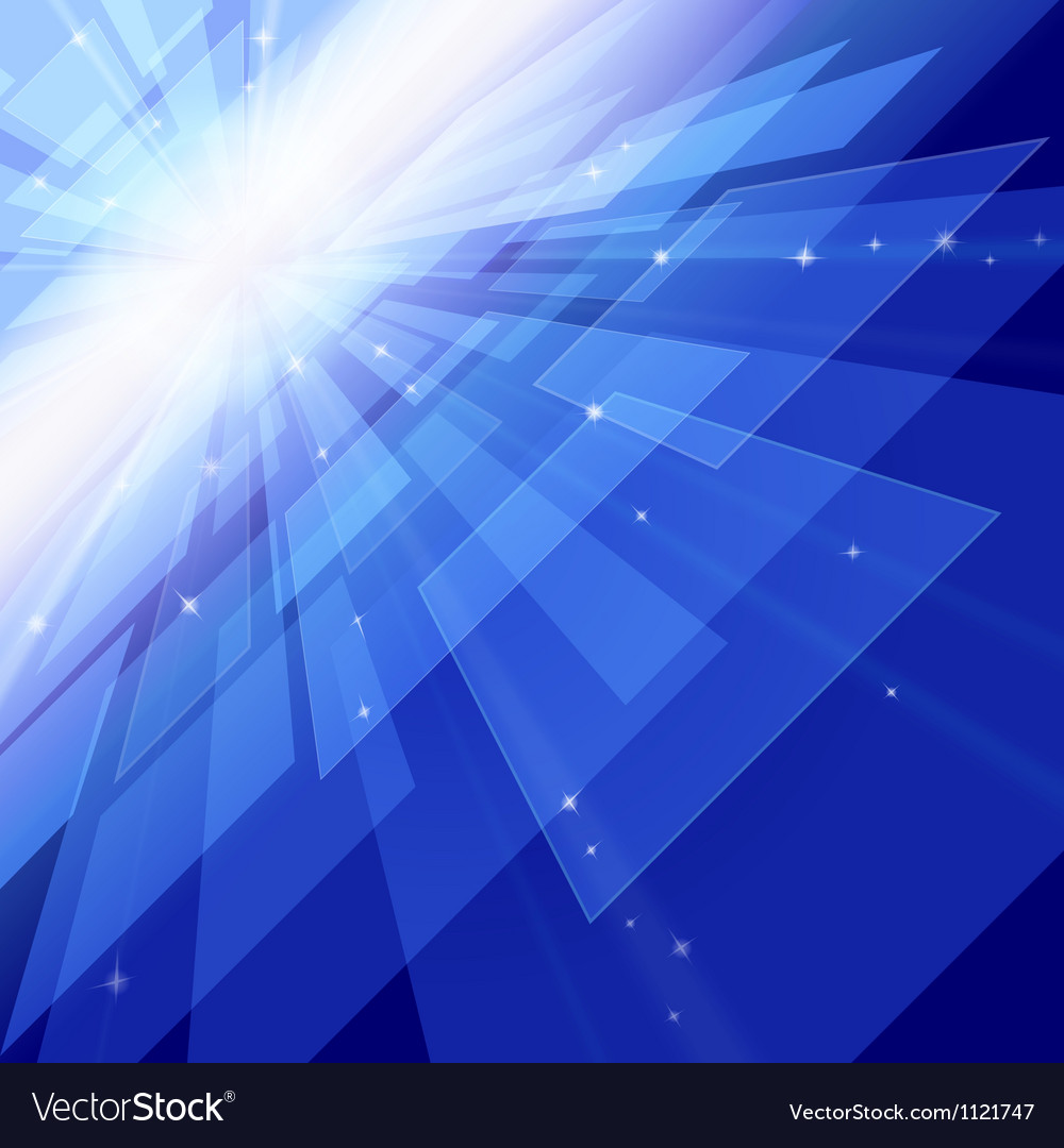 Outer space perspective vector image