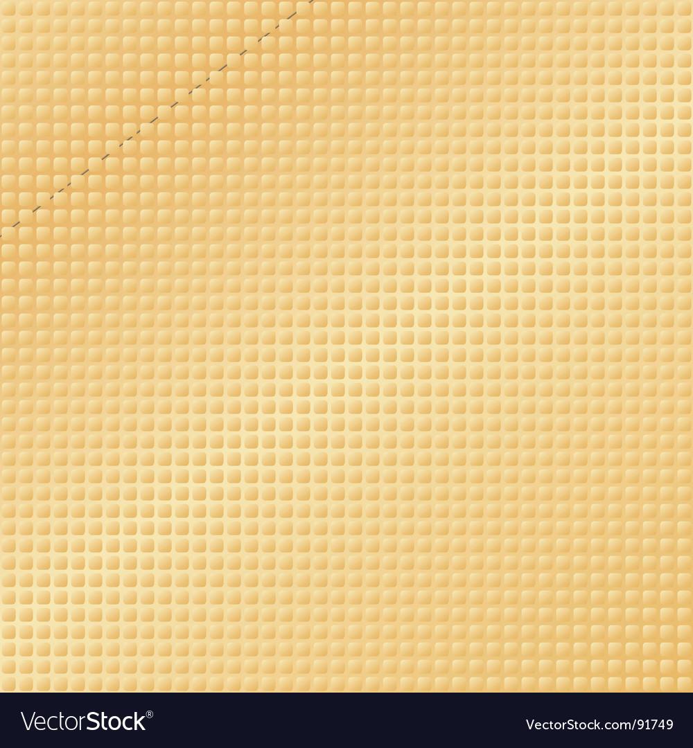 Golden textured pattern vector image