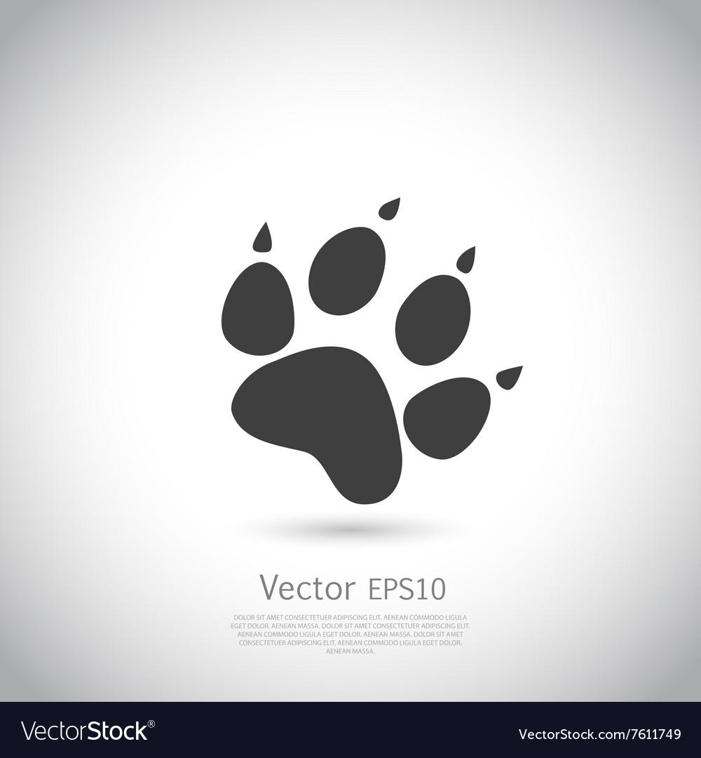 Cat paw print icon vector image