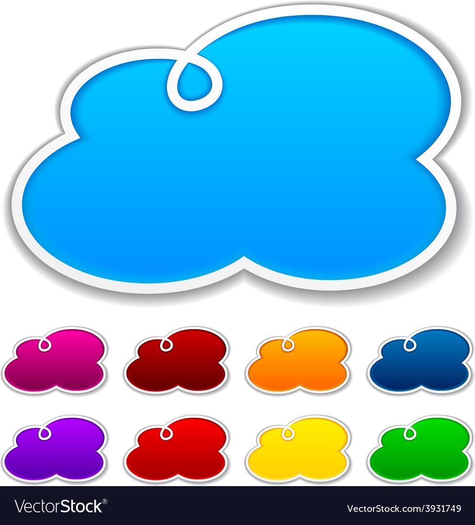 Cloudscape notification paper shapes vector image