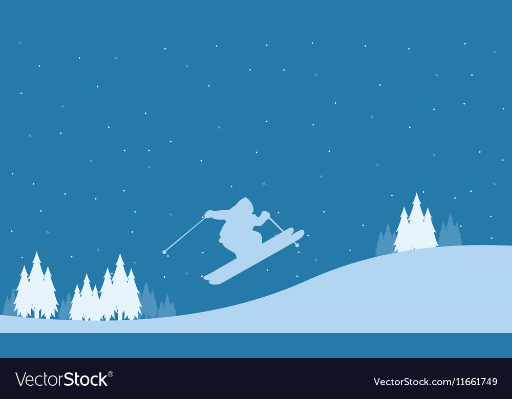 Merry Christmas winter landscape collection vector image