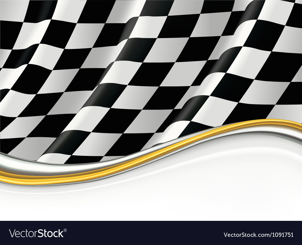Checkered Flag background vector image