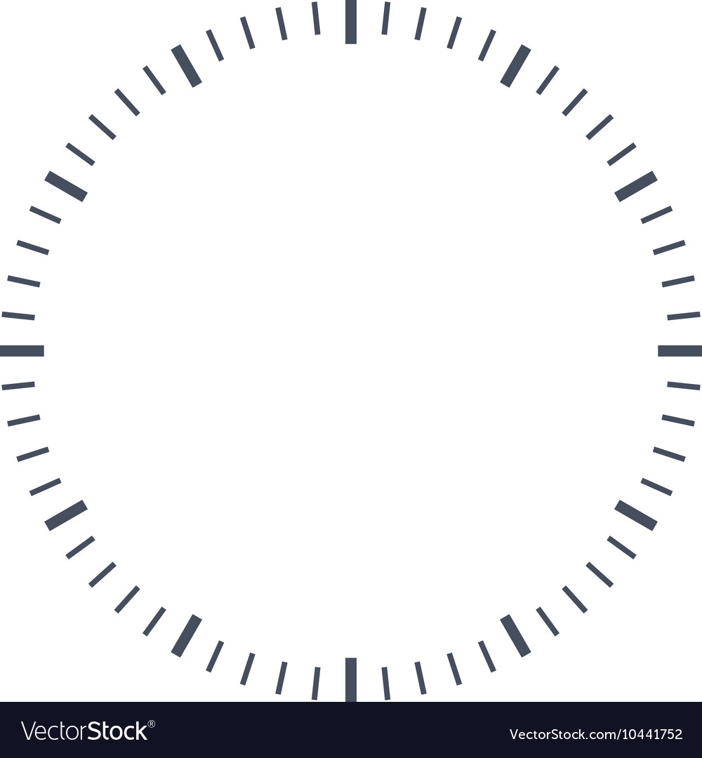 Blank clock face vector image