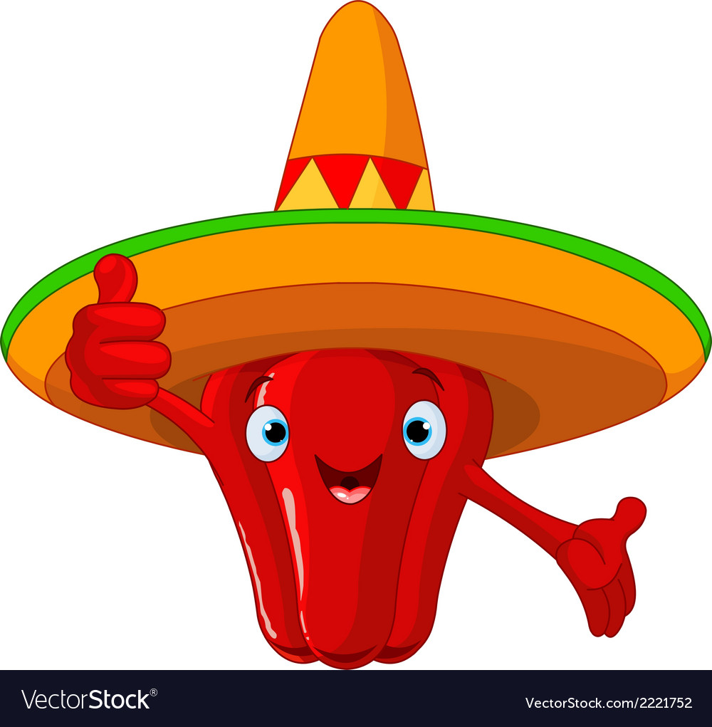 Red Hot Chili Pepper Character vector image