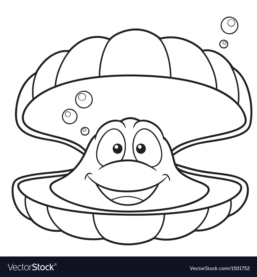 Shell outline vector image