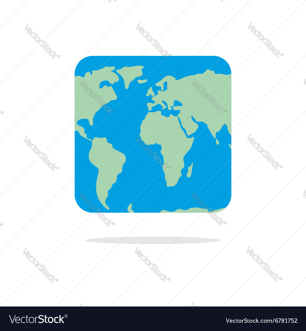 Square world map atlas of unusual shape square vector image gumiabroncs Image collections