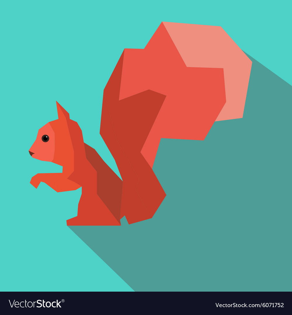 Squirrel abstract vector image