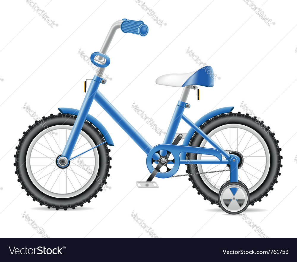 Kids bicycle vector image