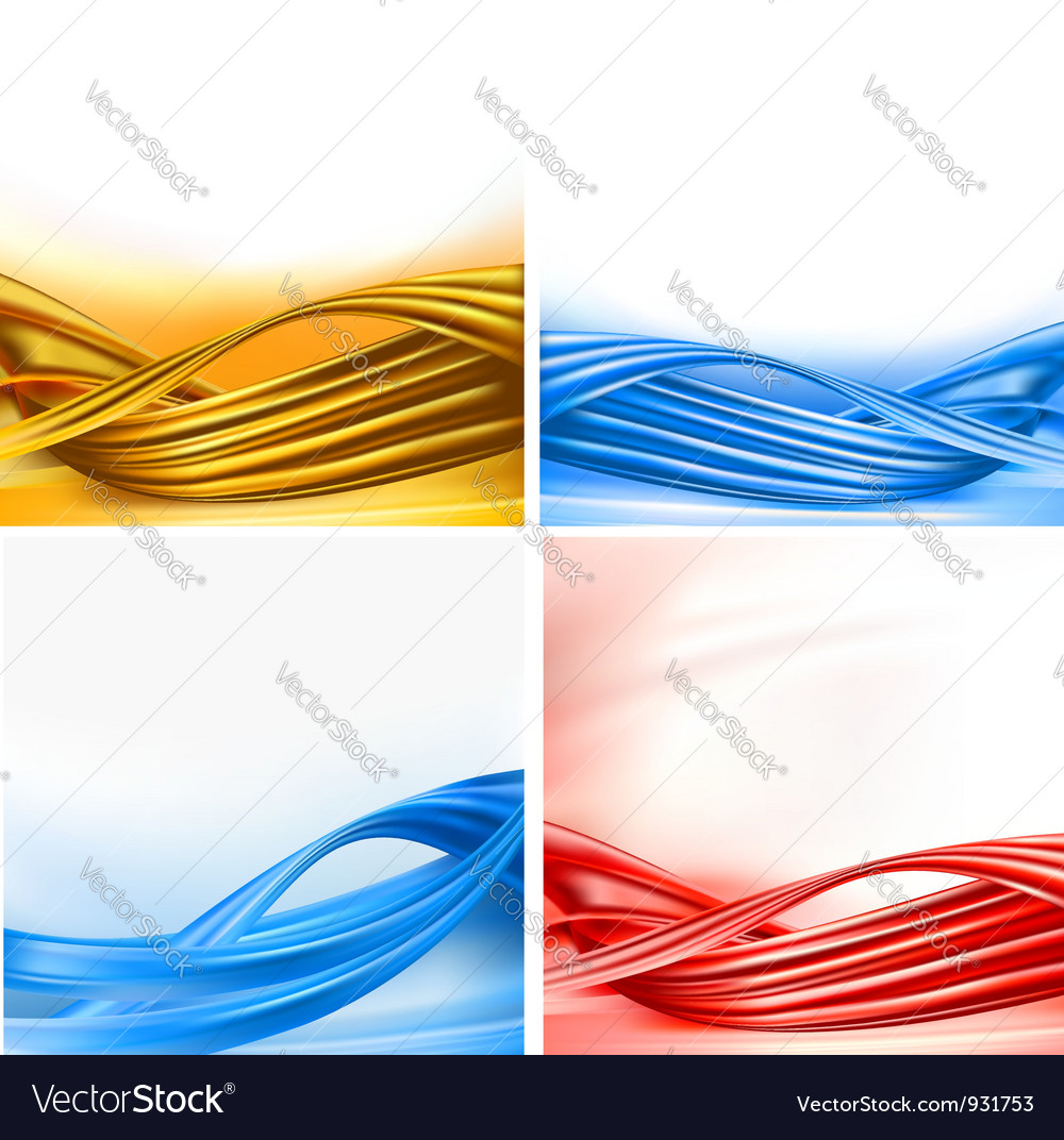 Set of colorful backgrounds with abstract elements Vector Image